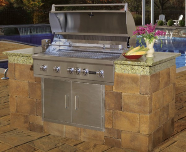 Cambridge Fully Assembled Outdoor Grill Island 9