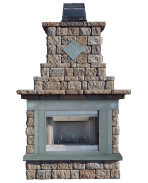 Cambridge Pre Packaged Maytrx Wall Fireplace Kit With