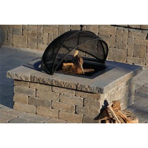 cambridge pre packaged olde english square fire pit kit 9