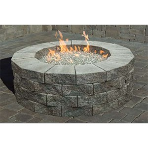 Cambridge Pre Packaged Olde English Round Gas Fire Pit Kit