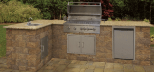 pre-cut maytrx wall outdoor kitchen