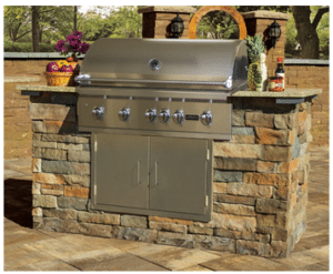 veneer-grill outdoor kitchen