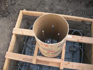 Sonotubes concrete forms