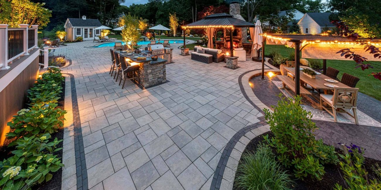 patio paver ideas patterns